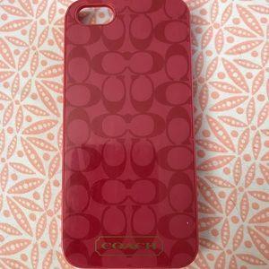 Pink Coach iPhone 5/5s case
